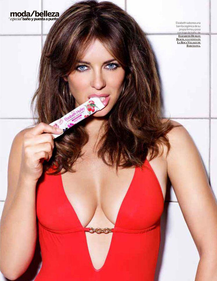 Elizabeth Hurley - ELIZABETH HURLEY THING ON FACE