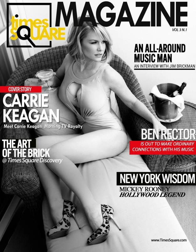 Carrie Keagan Times Square Mag