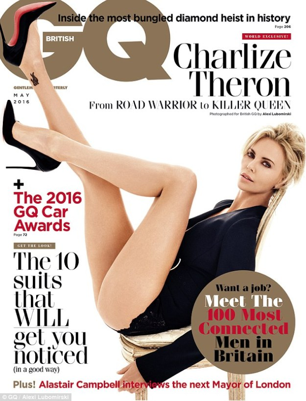 charlize theron in gq
